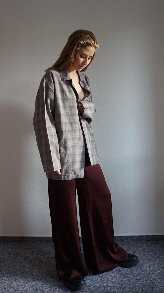 90s Missoni Mans Plaid Button Up Shirt - Vintage M