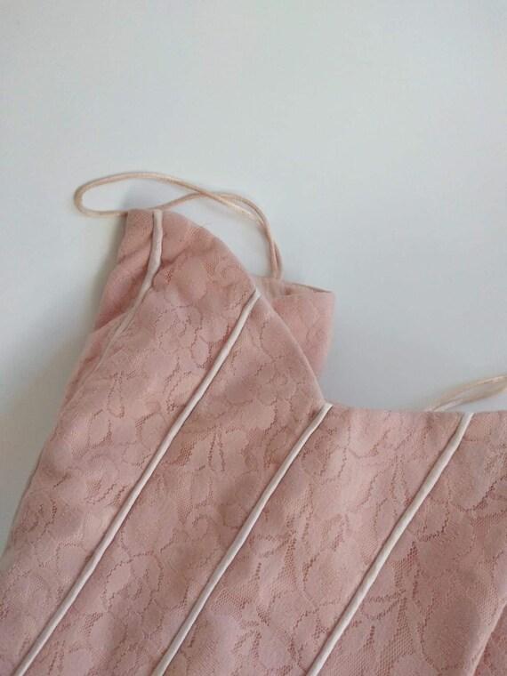 Y2k Pink Lace Corset Top - Bustier - Crop Top - S… - image 7
