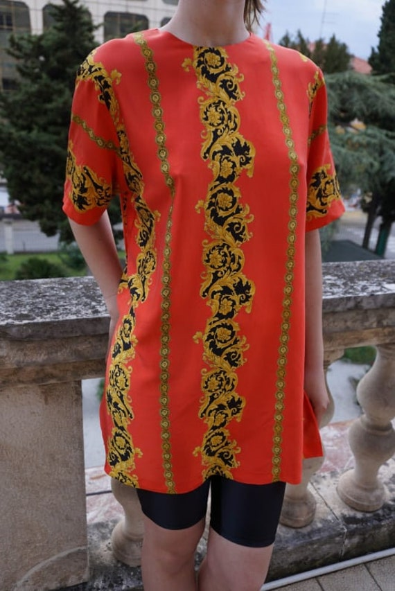 Vintage Blouse sewn of Versace fabric - Versace S… - image 2