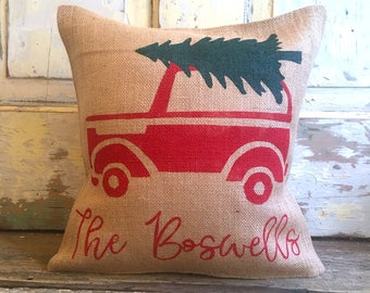 Pillow Cover | Family Christmas pillow | Christmas Tree pillow | Christmas pillow | Christmas decor | Holiday pillow |