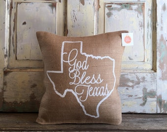 Pillow Cover | God Bless Texas pillow | Texas pillow | Texas Gift | Gift for Mom | Christmas Gift | Moving, Housewarming, Hostess Gift