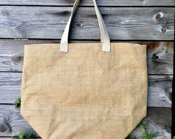 Burlap Beach Tote | Burlap Tote Bag | Burlap Beach Bag | Eco Friendly Bag | Burlap Tote | Beach Tote | Monogram Beach Tote | Vegan Tote