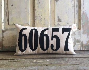 Pillow Cover | Zip Code pillow | Address pillow | House Numbers pillow | Realtor Gift | Housewarming Gift | Wedding Gift | Moving Gift