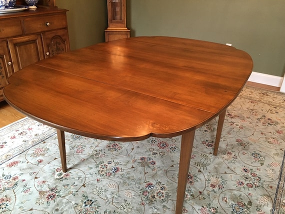 Hitchcock 7 Piece Signed Dining Set Drop Leaf Table 6 Chairs Etsy