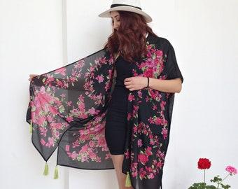 ca2b0391dbcd5 Boho Floral Kimono