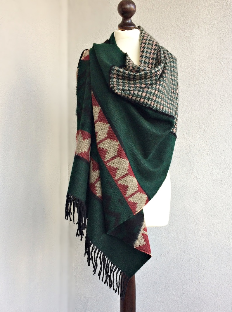 Tribal Wool Scarf Blanket Wrap Scarf Women Travel Gift  808233209b