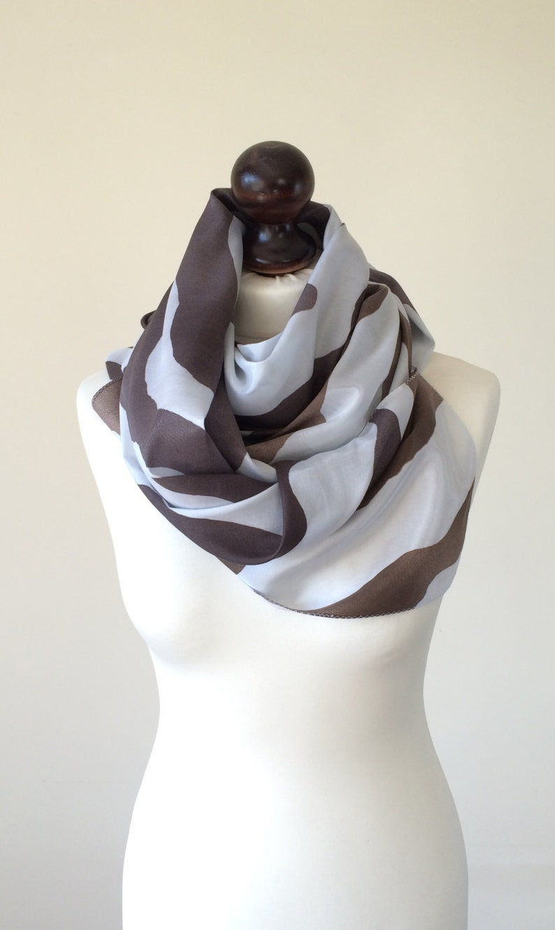 Long Silk Scarf Oversize Women Coverup Rectangular Wrap image 0