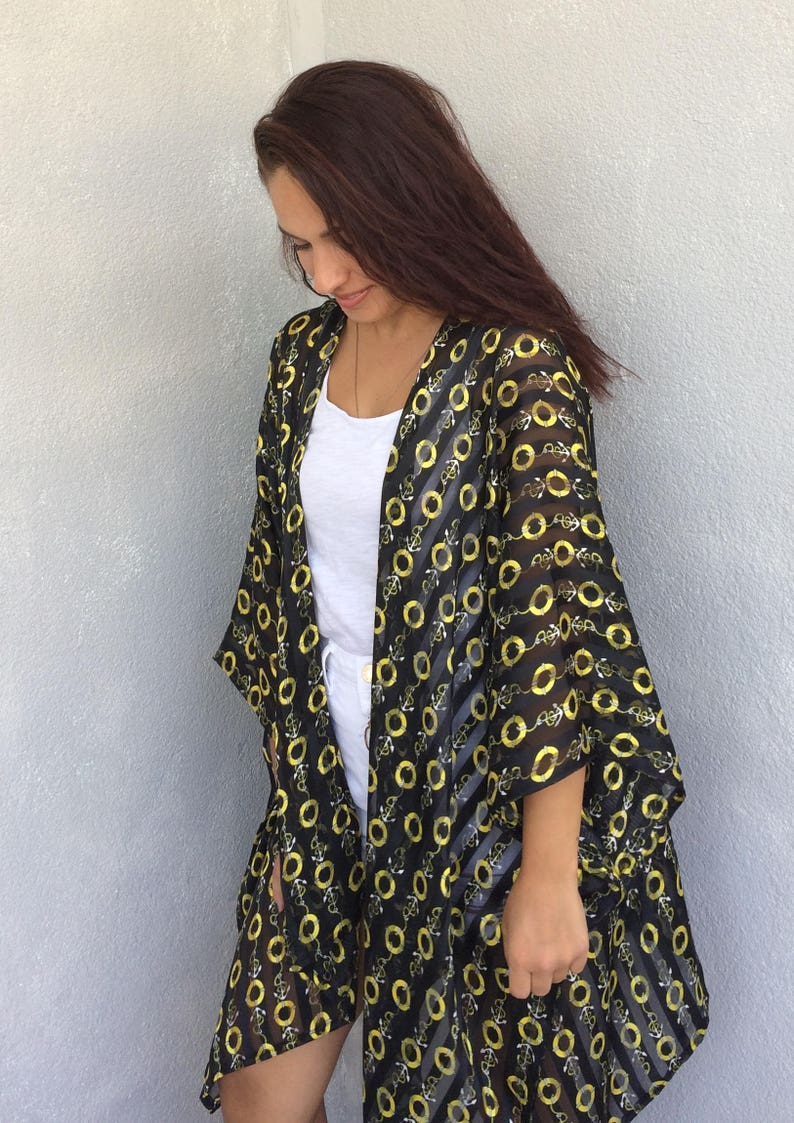 fb75c75d89096 Oversize Swimwear Coverup Loose Kimono Top Boho Summer | Etsy