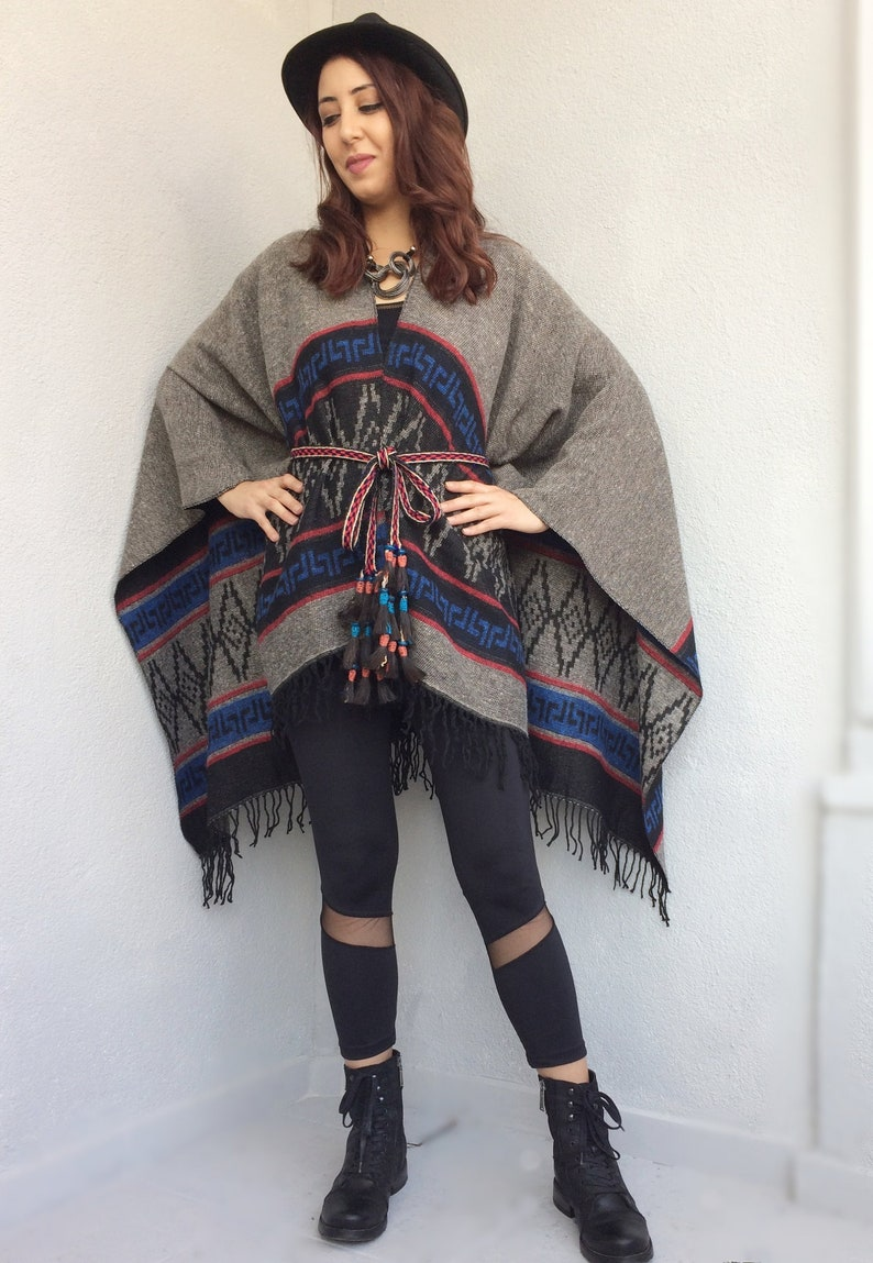 Navajo Blanket Poncho, Mexican Men Poncho, Tribal Oversize Shawl, Festival  Wool Top, Southwestern Women Cape, Accessory Clothing Gift