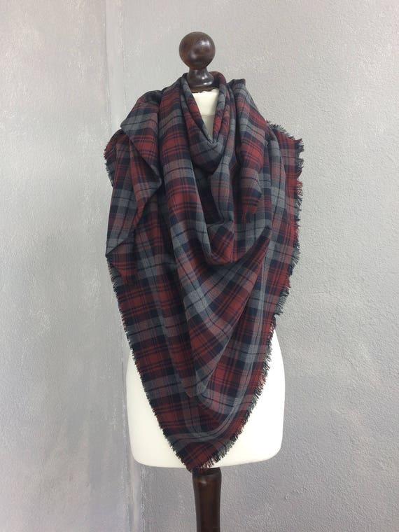 Outlanders inspiré Tartan Plaid châle doudou foulard carré de   Etsy 03592fc06ee