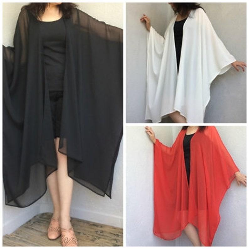 c193f3fe8 Plus Size Kimonos Boho Maxi Cardigan Sheer Long Caftan | Etsy