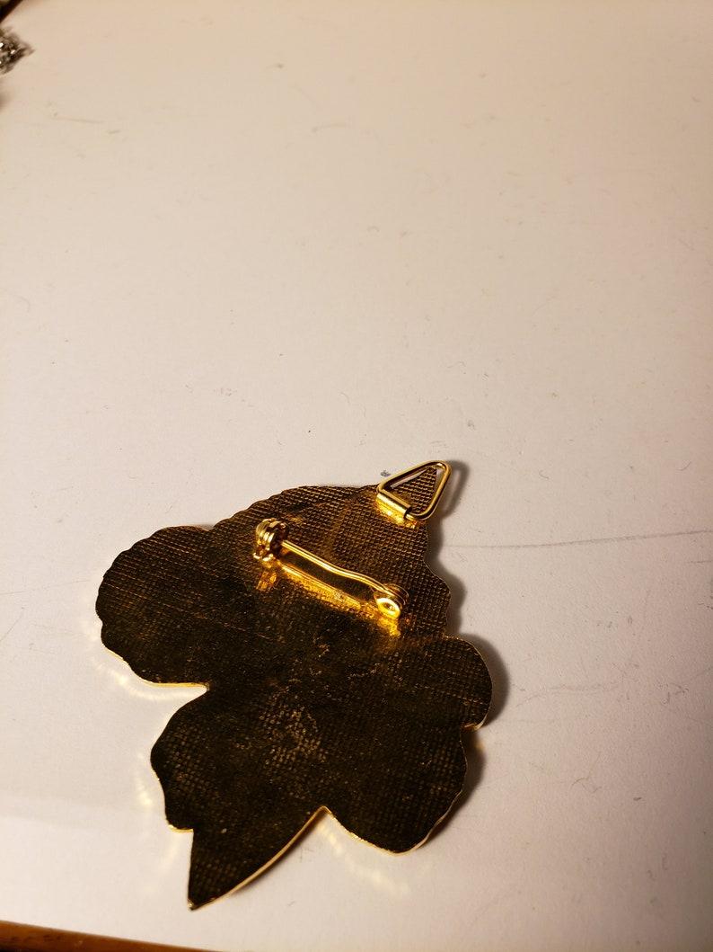 Butterfly brooch pendant