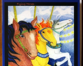 Greeting Card Flying Horses album cover for song