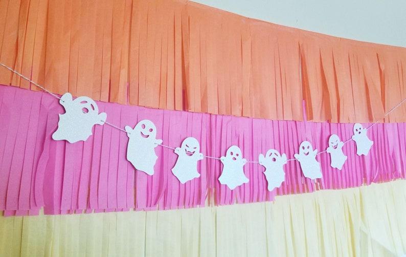 GHOST GARLAND party banner-garland-halloween-party decor-wall decor-halloween decor-happy halloween