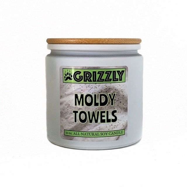 Moldy Towels 11 Oz Scented Soy Candle, Musty Basement Candle
