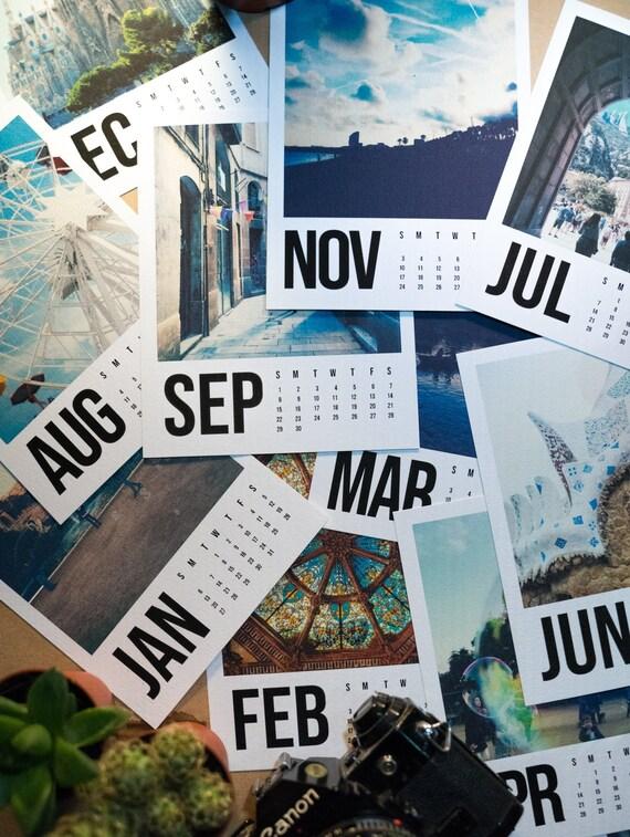 2019 barcelona polaroid kalender wand kalender etsy. Black Bedroom Furniture Sets. Home Design Ideas