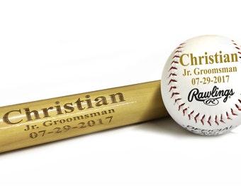 Engraved Baseball Bat, Gift for Ring Bearer, Baseball Gifts for Boys, Ring Bearer Gift Ideas for Boys, Ringbearer Gift, Groomsman Gift