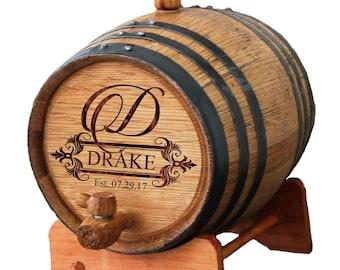 Wooden Barrel Etsy