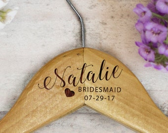 Personalized Bridesmaid Hangers, Bridal Hanger, Hanger With Name, Maid Of Honor Hanger, Monogram Wedding Hanger, Custom Wedding Hanger
