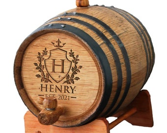 Personalized Wedding Party Mini-Oak Whiskey Barrels - Groomsmen Gift - Wedding Party Gift - Engraved - Customized - Monogrammed for Free
