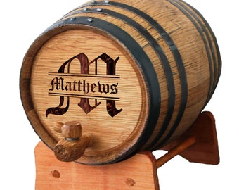 Personalized Whiskey Barrel,  Personalized Wine Barrel, Bourbon Barrel, Oak Barrel, Whiskey Gift, Whiskey Lover Gift, 1,2, or 3 Liter Barrel