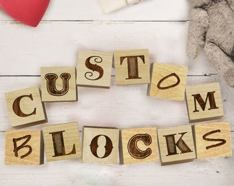 Personalized Blocks Etsy