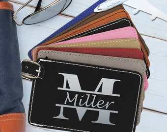 Engraved Luggage Tag, Business Gift, Travel Gifts for Men, Luggage Tags Personalized, Travel Accessories, Gifts for Travelers