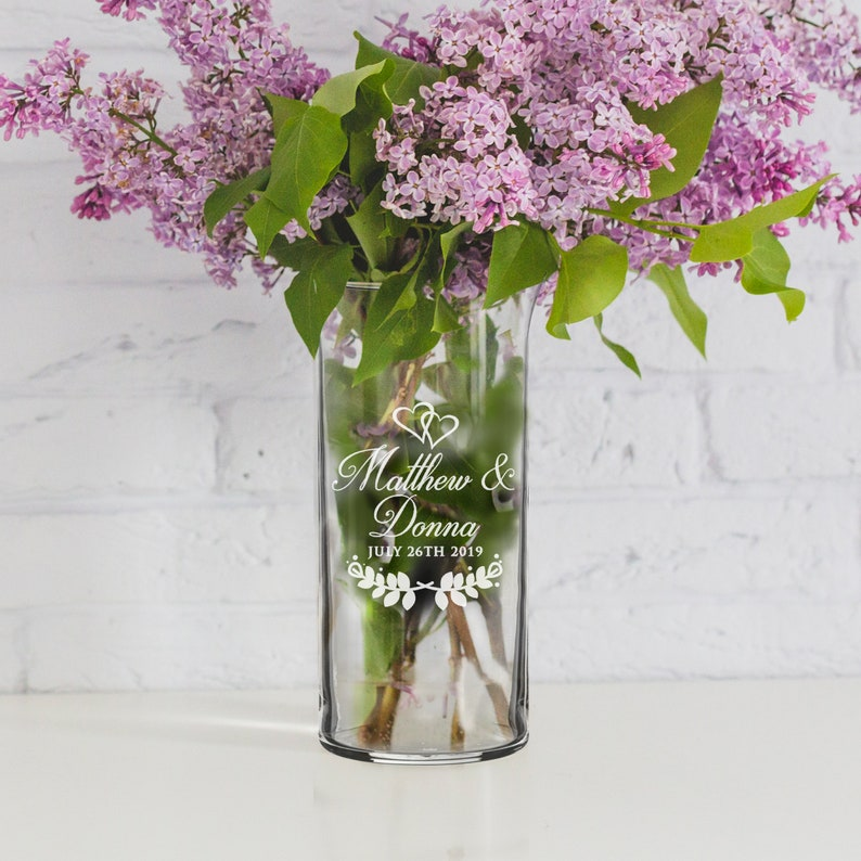 225 & Personalized Flower Vase Centerpieces for Wedding Centerpiece Vase Table Center Pieces Engraved Flower Vase Glass Vase Centerpiece