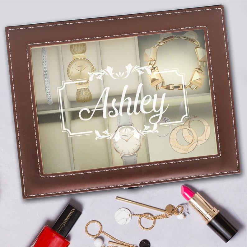 Girls Jewelry Box Bridesmaid Jewelry Box Engraved Jewelry Box Jewelry Box Case Large Custom Jewelry Box Personalized Jewelry Box