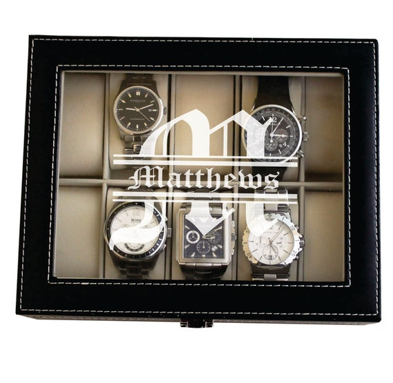 Custom Watch Box Watch Case For Men Watch Case Personalized Watch Box For Him Mens Watch Case Engraved Watch Case Watch Holder