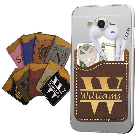 image 0 - Custom Adhesive Cell Phone Card Holder
