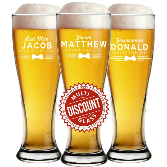 personalized pilsner glass engraved beer glasses custom beer etsy