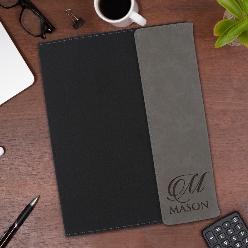Engraved Work Portfolio Business Gift For Office or Graduation-Custom Portfolio