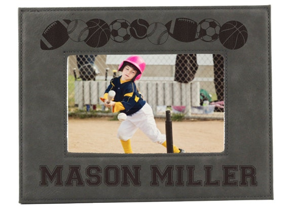 Sports Picture Frames For Kids Personalized Sports Frames Etsy