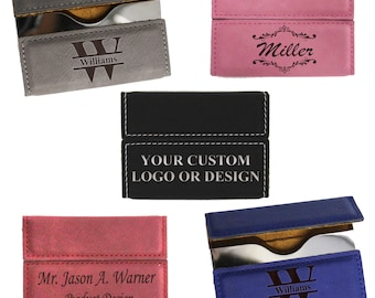 Business card holder etsy personalized leather business card holder business card case business gifts custom business card reheart Image collections