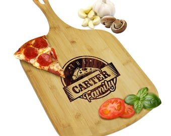 Wood Pizza Board, Pizza Paddle, Custom Pizza Paddle, Pizza Paddle Customized, Engraved Pizza Paddle, Personalized Pizza Peel