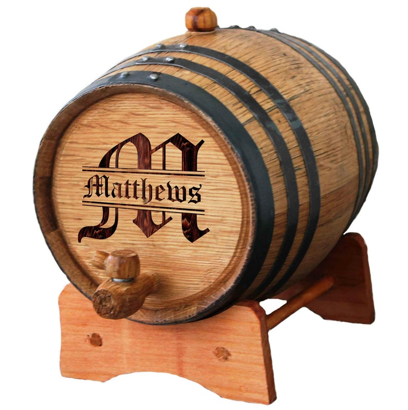 Personalized Whiskey Barrel  1 or 2 or 3 Liter Mini Oak image 0