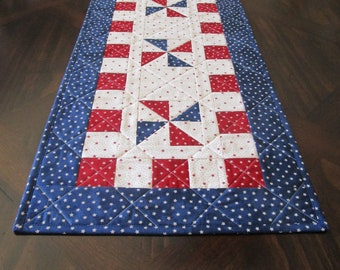 Patriotic Table Runner**Fourth of July**Red White & Blue** Patchwork Table Runner**Housewarming gift