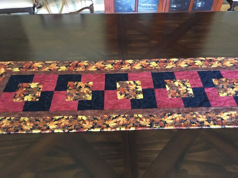 Quilted Fall Table Runner**Harvest Table Runner**Thanksgiving**Holiday Table Runner**Hostess Gift