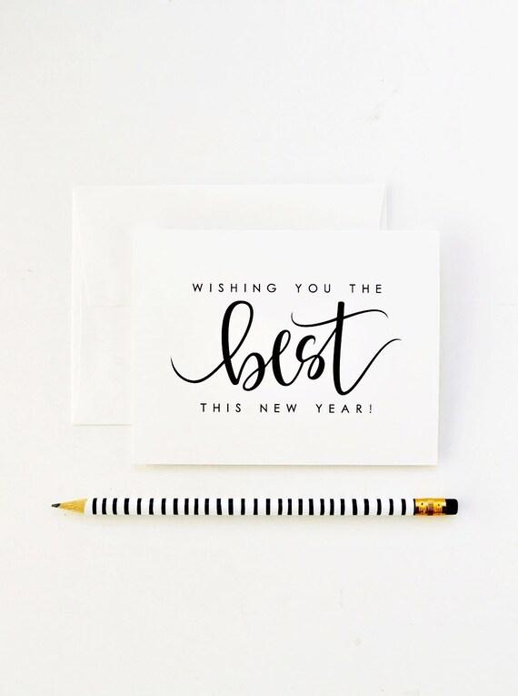 Frohes neues Jahr-Karte / Ich wünsche Ihnen das beste dieses | Etsy
