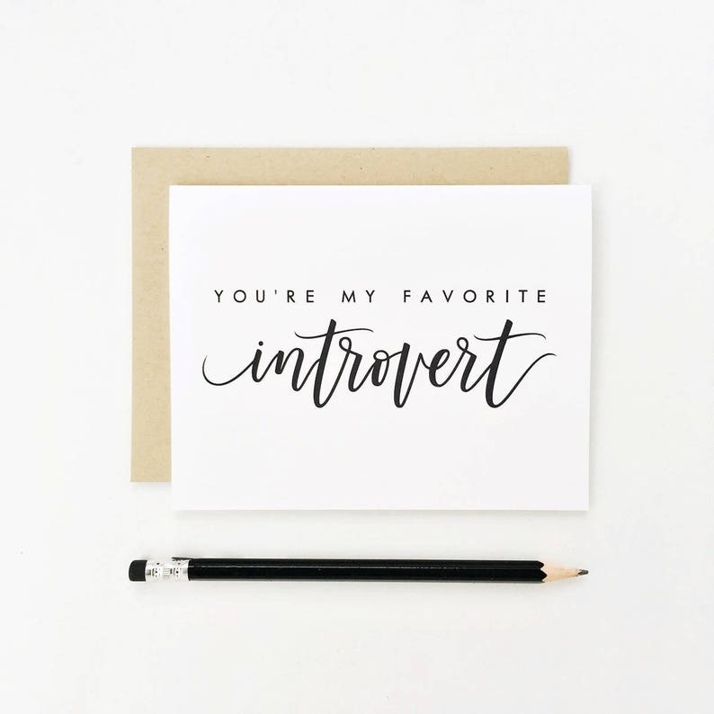 You're My Favorite Introvert Valentine's Day Card image 0