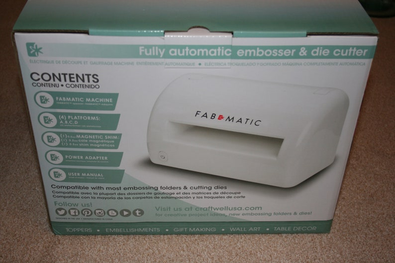 Fabmatic Die Cutting Machine For Fabric, Material, paper and card  Brand  New In Box Craftwell