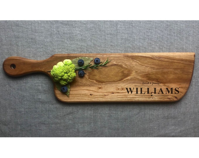 Custom Cutting Board, Personalized Wedding Anniversary gift - Bridal Shower Gift - gifts for her , walnut serving cheese board