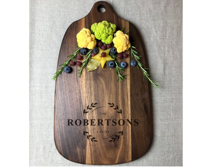 Personalized Cutting Board, Engraved Wedding Gift, Custom Anniversary Gift
