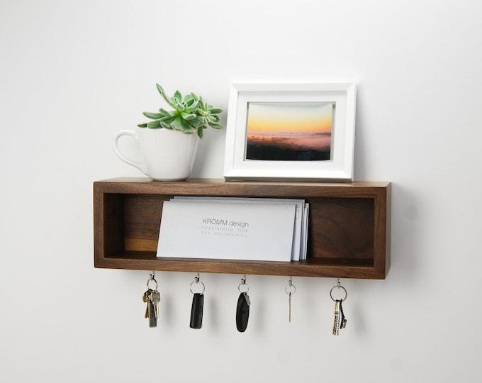 Floating Entryway Organizer / Scandinavian Design Inspired Floating Shelf