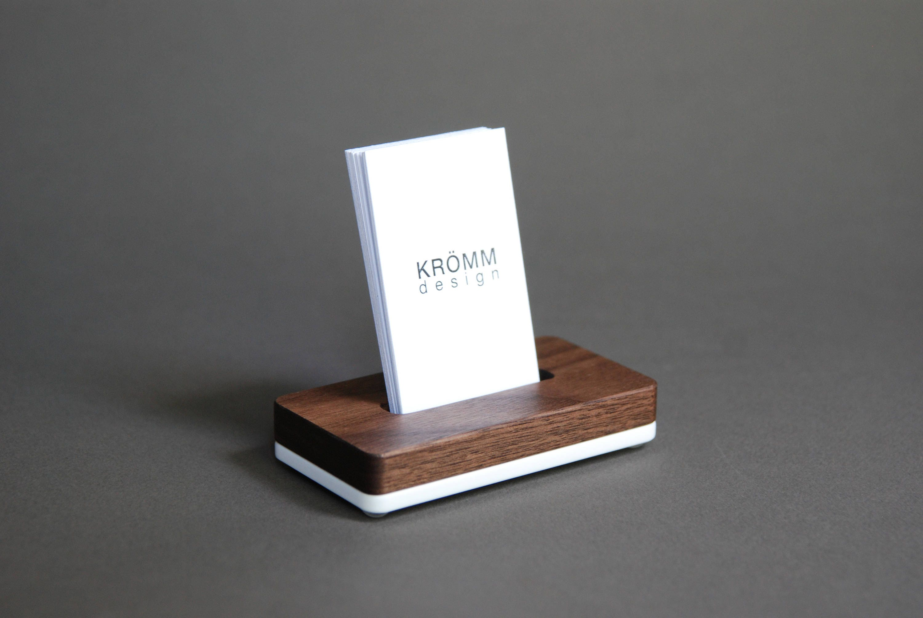 Vertical MOO Business Card Stand / Business Card Display / Wood Card ...