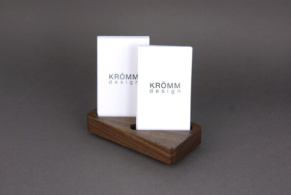 Holz Zwei Karten Stand Für Vertikale Visitenkarten Oder Moo Karten Walnuss Holz Visitenkartenanzeige