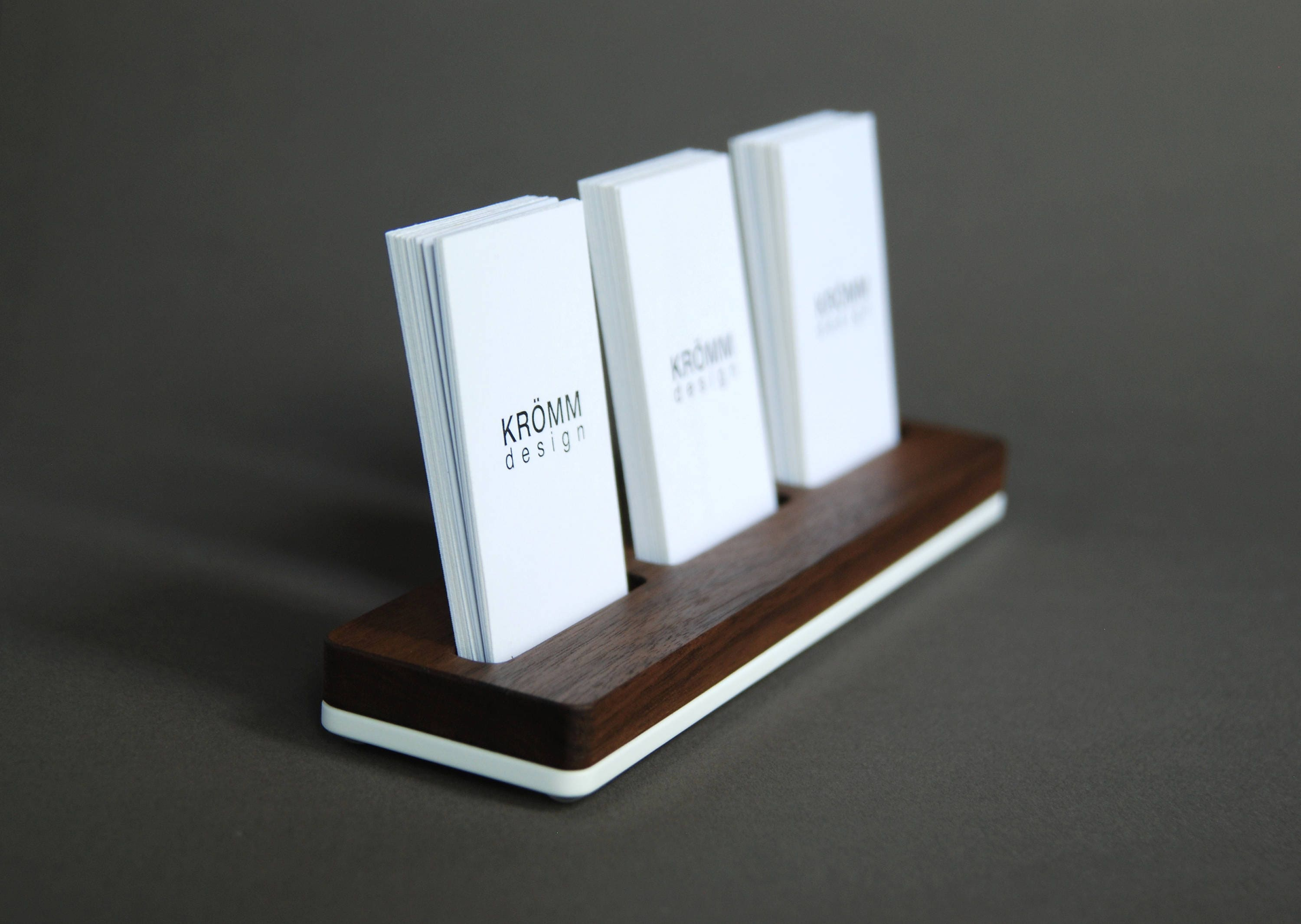 Wood business card stand multiple moo business card holder wood business card stand multiple moo business card holder walnut wood and acrylic 3 vertical business card stand reheart Choice Image