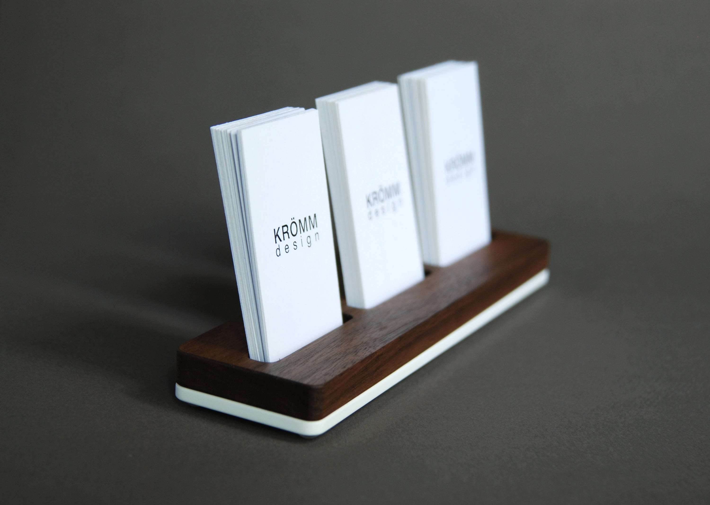 wood business card stand multiple moo business card holder walnut wood and acrylic 3 vertical business card stand - Vertical Business Card Holder
