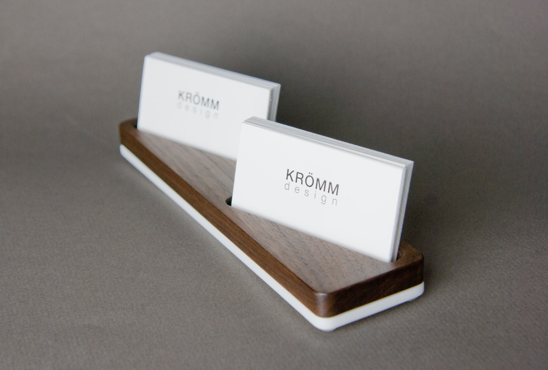 Wood business card stand for horizontal cards placed at angle wood wood business card stand for horizontal cards placed at angle wood business card display walnut wood business card holder reheart Gallery